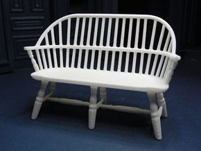 1:24 Windsor Settee in White Strong & Flexible