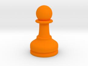 MILOSAURUS Chess MINI Staunton Pawn in Orange Processed Versatile Plastic