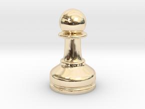 MILOSAURUS Chess MINI Staunton Pawn in 14k Gold Plated Brass
