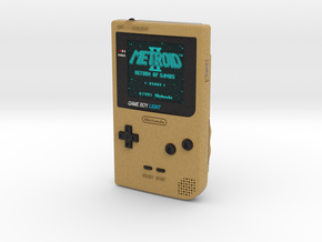 1:6 Nintendo Gameboy Light (Gold Metroid 2) in Full Color Sandstone