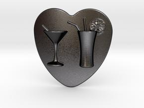 Cocktail Belt Buckle in Polished Grey Steel
