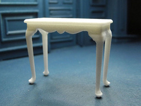 1:24 Queen Anne Fancy Console Table, Medium in White Natural Versatile Plastic