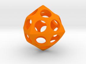 Deltoidal Icositetrahedron Roller in Orange Processed Versatile Plastic