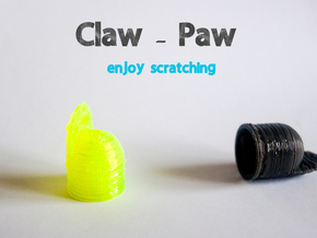 Claw-Paw Size Medium (18mm diameter) in White Natural Versatile Plastic