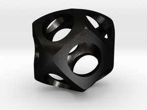 Dodecahedron Roller in Matte Black Steel