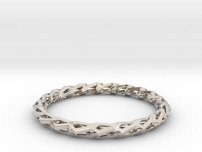 H Bracelet, Medium Size, d=65mm in Platinum: Medium