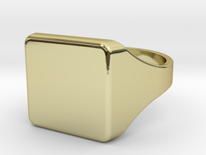 Signet ring XL [EU24], engraveable in 18k Gold Plated Brass