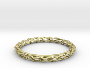H Bracelet Smooth, Medium Size, d=65mm in 18k Gold Plated Brass: Medium