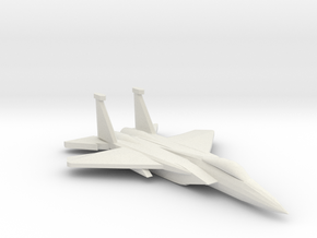 1/350 F-15C Eagle in White Natural Versatile Plastic