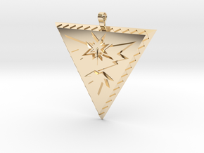 Team Instinct Pendant in 14k Gold Plated Brass