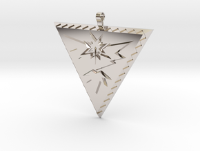 Team Instinct Pendant in Rhodium Plated Brass