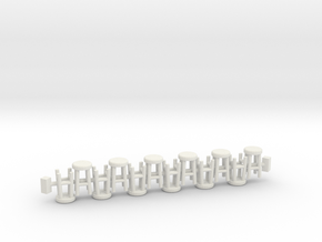 4 Leg Stools x12  OO Scale in White Strong & Flexible