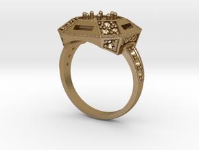 Vintage ring in Polished Gold Steel