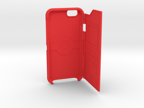 Iphone6 pokeball / pokedex case in Red Processed Versatile Plastic