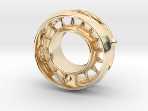 Ring 16.9mm in 14k Gold Plated Brass