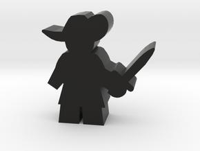 Game Piece, Musketeer, sword standing in Black Strong & Flexible