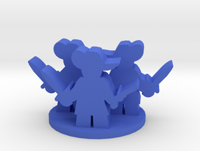 Game Piece, Three Musketeers group in Blue Processed Versatile Plastic