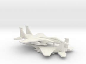 1/350 F-15C 2040C Advanced Eagle (x2) in White Strong & Flexible