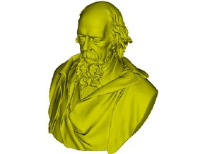 1/9 scale Alfred Lord Tennyson bust in Smooth Fine Detail Plastic