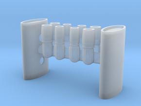 1/16 Eliptical Body Turbo Muffler in Smooth Fine Detail Plastic