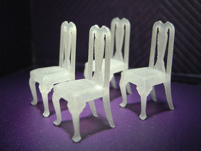 1:48 Queen Anne Chairs in Frosted Ultra Detail
