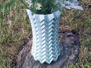 Mountain Valley Vase in Gloss Celadon Green Porcelain