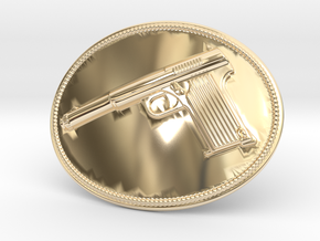 Astra Belt Buckle in 14k Gold Plated Brass