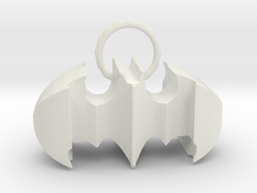 Batman keychain (or necklace ) in White Natural Versatile Plastic