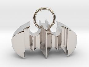 Batman keychain (or necklace ) in Platinum