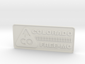 Colorado Free-mo Tag in White Natural Versatile Plastic