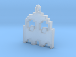 Pac-Man Pendant - Ghost (rounded corners) in Smooth Fine Detail Plastic