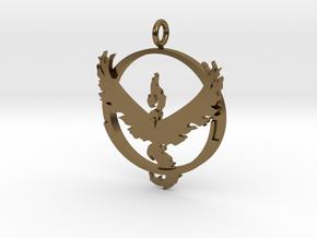 Pokemon Go Team Valor Pendant in Polished Bronze