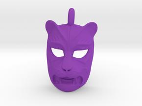 Plastic Leopard Pendant in Purple Processed Versatile Plastic