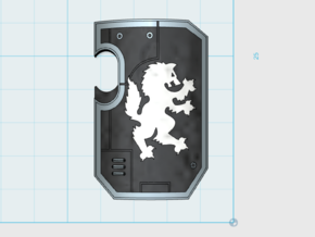10x Wolf Rampant - Marine Boarding Shields in Smooth Fine Detail Plastic