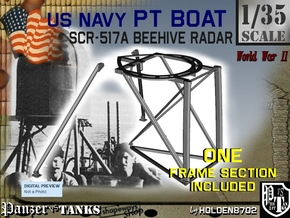 1-35 PT Boat Beehive Radar Frame in Smooth Fine Detail Plastic