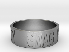 """Swag Money"" Ring, 24mm diameter in Natural Silver"