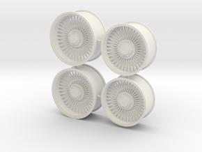 Wire Rims that fit Foose Camaro tires 1/12 in White Natural Versatile Plastic