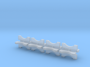 1/25 3 Inch Muffler Clamps in Smoothest Fine Detail Plastic