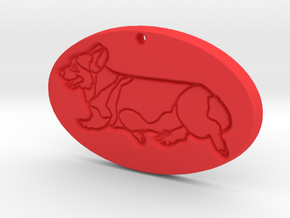 Oval Side Gait Pendant in Red Strong & Flexible Polished