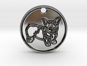Corgi Natural Cuteness in Polished Silver