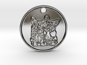 Corgi Clones in Polished Silver