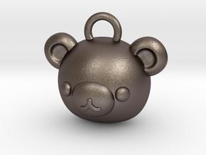 CUTEY BEAR PENDANT in Polished Bronzed Silver Steel