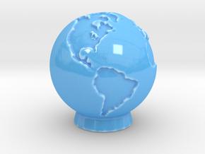 Ceramic Earth in Gloss Blue Porcelain