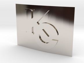 Smaller Kaiba Corp Belt Buckle in Rhodium Plated Brass