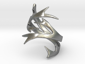 Antler Ring Size 7 in Raw Silver