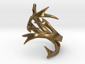 Antler Ring Size 7 in Natural Bronze