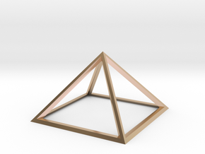 Giza Pyramid in 14k Rose Gold Plated Brass