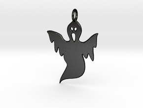 Halloween Ghost Pendant in Matte Black Steel