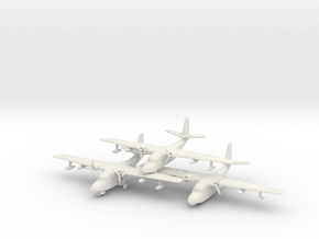 Grumman HU-16 (SA-16) Albatross (x3) 6mm 1/285 in White Natural Versatile Plastic