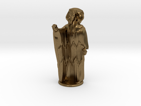 Ra in Robes with hand device - 20 mm in Natural Bronze